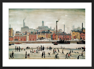 Northern River Scene by L S Lowry