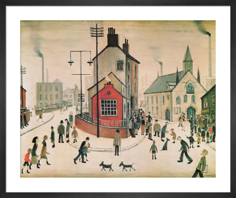 3bfc65f29ad A Street in Clitheroe. Art print by L S Lowry ...