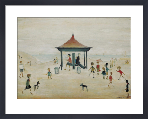On the sands, Berwick on Tweed by L S Lowry
