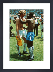 Pele and Moore by Celebrity Image