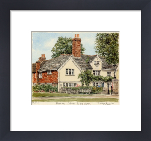 Horsham - Cottages by church by Glyn Martin