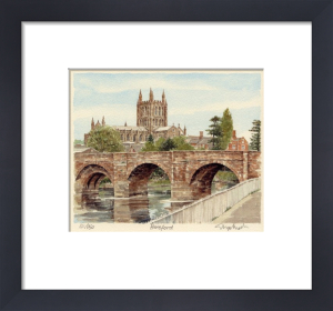 Hereford - Bridge & Cathedral by Glyn Martin