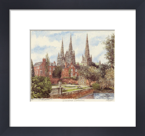 Lichfield-Cath. & Minster Pool by Philip Martin