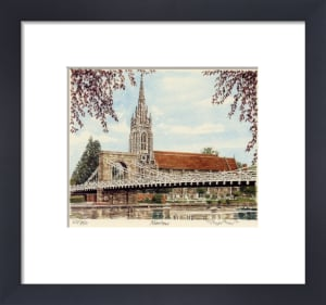 Marlow - Church & Bridge by Glyn Martin