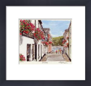 Salcombe - street scene by Glyn Martin