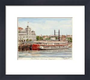 New Orleans - Mississippi Steam Boat by Glyn Martin