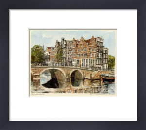 Amsterdam - Bridge with rails by Philip Martin