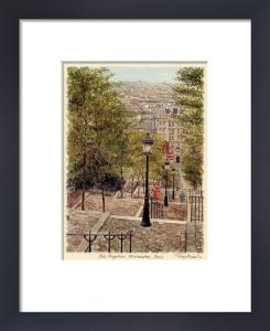 Paris - Montmartre, Rue Fytr by Glyn Martin