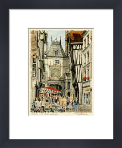 Rouen - Rue du Gros-Horloge by Glyn Martin