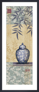 Bamboo And Blossom I by Linda Wood