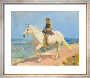 Shrimp On A White Welsh Pony by Sir Alfred Munnings