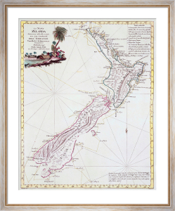 Map Of New Zealand 1778 by Antonio Zatta
