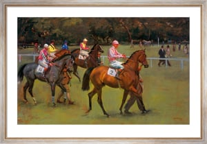 At The Races (Going Out At Kempton) by Sir Alfred Munnings