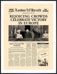 Rejoicing Crowds Celebrate Victory by London Herald