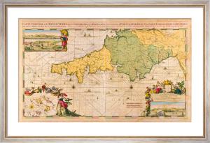 Carte Maritime de l'Angleterre depuis les Sorlingues jusques à Portland 1694 by Romain De Hooghe