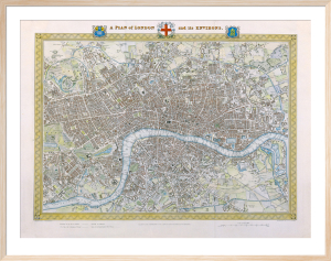 A Plan of London and its Environs 1831 by Samuel Lewis
