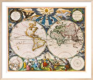 Orbis Terrarum Nova et Accuratissima Tabula 1666 by Goos