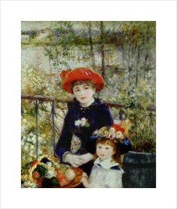 Two Sisters, or On The Terrace, 1881 by Pierre Auguste Renoir