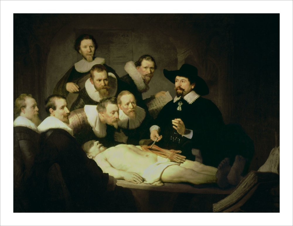 The Anatomy Lesson of Dr. Nicolaes Tulp, 1632 Art Print by Rembrandt ...