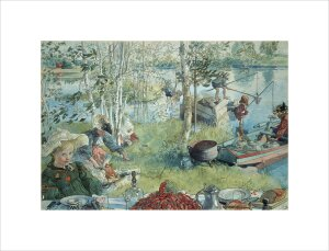 Catching Crayfish 1896 by Carl Larsson