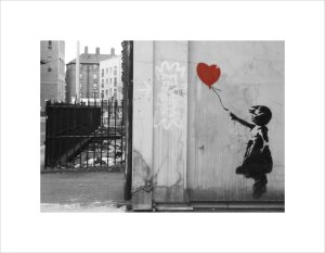 Banksy - Vestry Street (B&W) by Panorama London