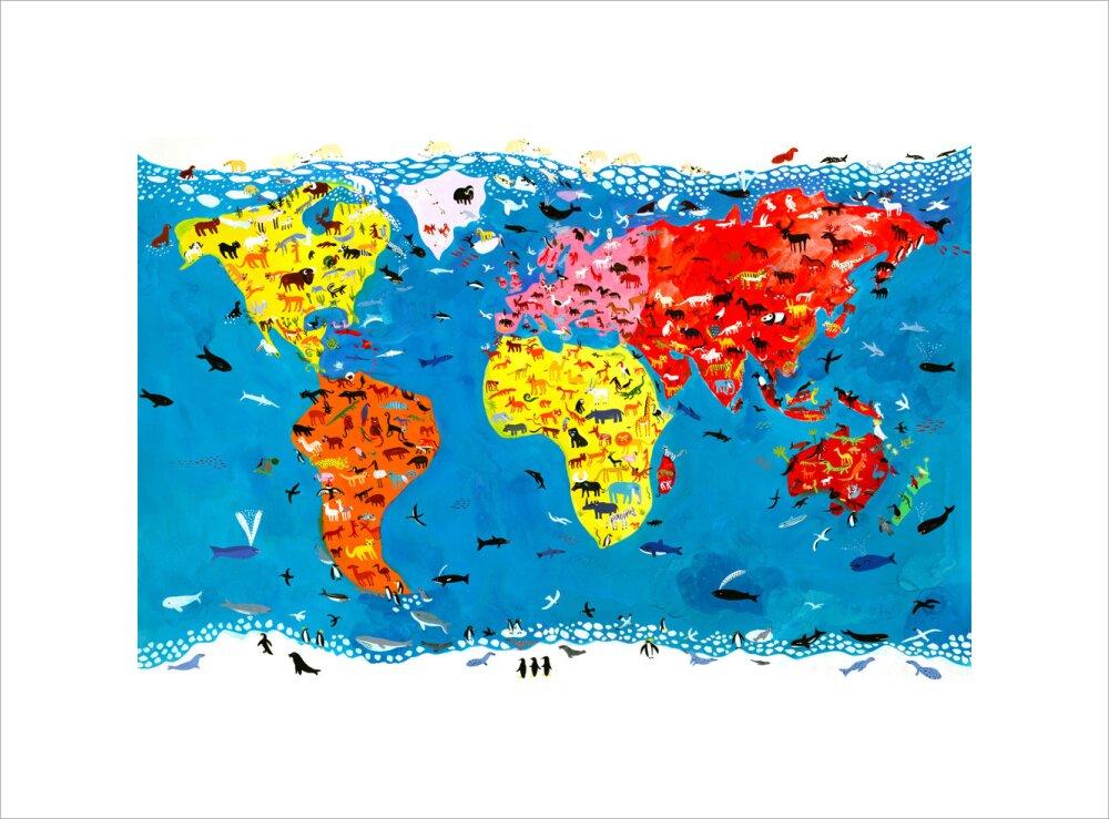 Animal world art print by christopher corr king mcgaw gumiabroncs Choice Image