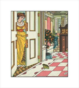 The Frog at the Princess's door by Walter Crane
