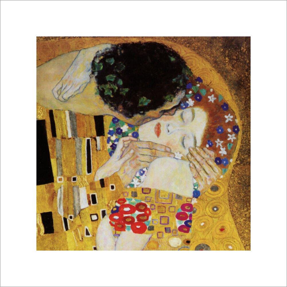 The Kiss (detail) Art Print by Gustav Klimt   King & McGaw