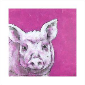 Pig on Pink by Nicola King