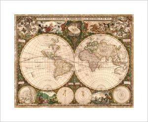 World Map, 1660 by Ward Maps