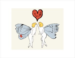 I Love You SO, c.1958 (angel) by Andy Warhol