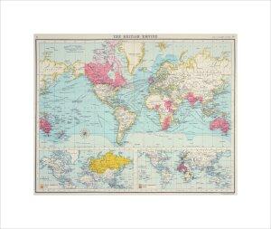 The British Empire, The Citizen's Atlas, 1912 by J G Bartholomew