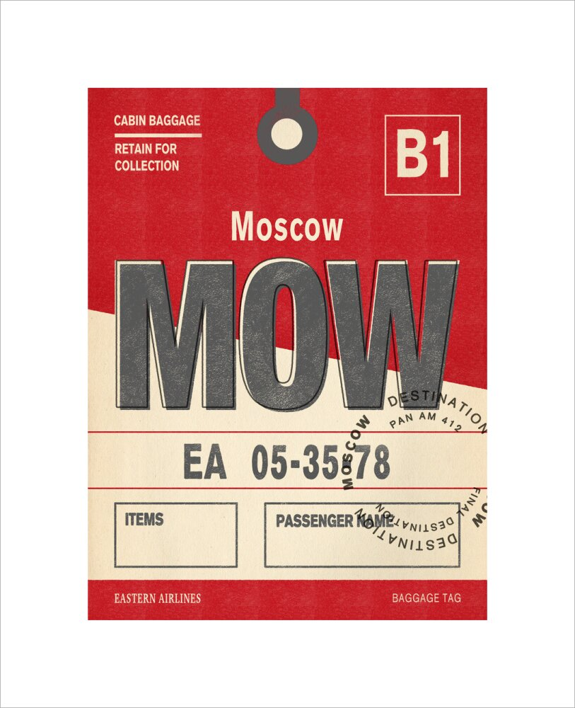 Destination - Moscow Art Print by Nick Cranston   King & McGaw