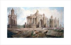 Design (by John Soane) for an Entrance to London by Joseph Michael Gandy