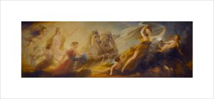 Phoebus in his Car (Library-Dining Room ceiling painting, 1 of 6) by Henry Howard
