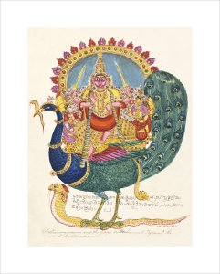 The god Subrahmanya, the god of war, c.1825 by Unknown artist