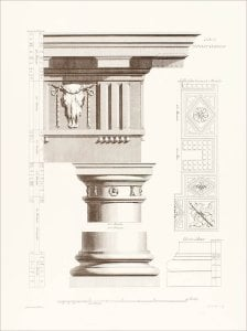 Orders of Architecture: The Doric Order by Sir William Chambers