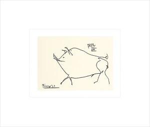Petit cochon (Silkscreen print) by Pablo Picasso