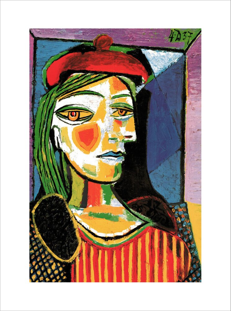 Femme au Beret Rouge Art Print by Pablo Picasso | King & McGaw