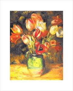 Tulips In A Vase by Pierre Auguste Renoir